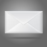 Blank vector white closed envelope. Isolated Stock Image