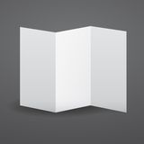 Blank vector white tri fold brochure template. Royalty Free Stock Photography