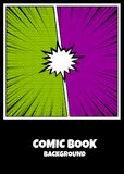 Color comics book cover vertical backdrop Royalty Free Stock Image