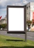Blank vertical billboard Stock Image