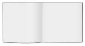 Blank vertical book template. Stock Photos