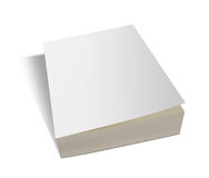 Blank vertical book template. Royalty Free Stock Photos