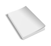 Blank vertical book template. Stock Photo