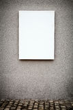 Blank Vertical White Board On Grungy Wall Stock Photography