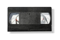 Blank vhs video cassette tape Royalty Free Stock Photos