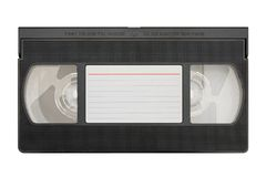 Blank video cassette. Isolated on white background stock images