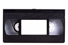 Blank video cassette tape. On white stock photography