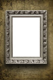 Blank vintage arrtframe on grunge wall Royalty Free Stock Image