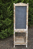Blank Vintage Blackboard Sign Royalty Free Stock Images