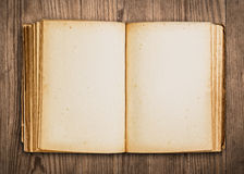 Blank vintage book. Stock Photo