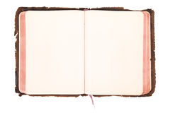 Blank vintage book open Royalty Free Stock Photography