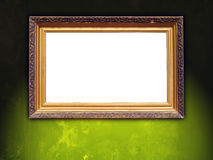 Blank Vintage Frame on Green Wall Royalty Free Stock Photo