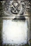 Blank vintage grave frame Royalty Free Stock Image