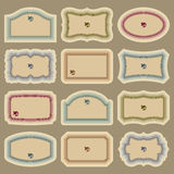 Blank vintage labels set (vector). Set of blank vintage labels, scalable and editable vector illustrations stock illustration
