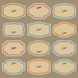 Blank vintage labels set (vector) Royalty Free Stock Photos