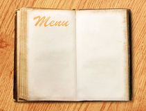 Blank vintage menu book Stock Photos