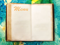 Blank vintage menu book Royalty Free Stock Photography