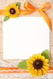 Blank vintage paper. With flowers design Stock Images