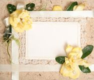 Blank vintage paper. With flowers design Royalty Free Stock Photo