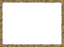 Blank Vintage Paper Frame with burnt edges on white backgrounds Royalty Free Stock Image