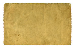 Blank vintage paper isolated Royalty Free Stock Photo