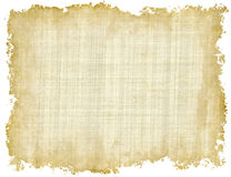 Blank Vintage Paper Texture with uneven edges on white backgroun Royalty Free Stock Image