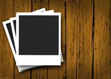 Blank Vintage Photo Frame On Wood Stock Photo