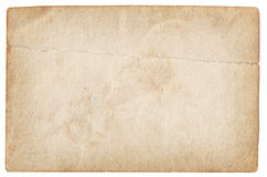 Blank vintage photo paper isolated Stock Photo