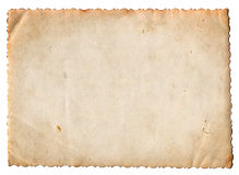Blank vintage photo paper isolated Stock Photos