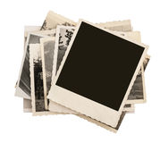 Blank vintage photo paper isolated Royalty Free Stock Photo