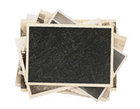 Blank vintage photo paper isolated Stock Photography