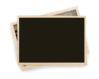 Blank vintage photo paper isolated royalty free stock photos