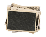 Blank vintage photo paper isolated Royalty Free Stock Photography