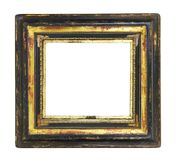 Blank vintage picture frame. Worn art nouveau picture frame, free copy space, clippimg path Stock Photos