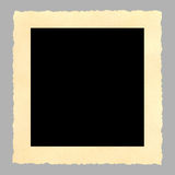 Blank vintage picture frame,deckle edged Stock Image