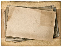Blank vintage post card background Stock Image