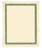 Blank Vintage Postage Stamp Green Vignette Macro Stock Image