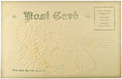 Blank Vintage Postcard. From early-to-mid-1900s with copyspace Royalty Free Stock Photos