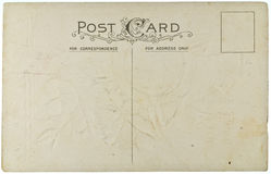 Blank Vintage Postcard. From early-to-mid-1900s with copyspace Stock Photos