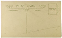 Blank Vintage Postcard Stock Photography