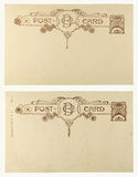 Blank Vintage Postcard. From early-to-mid-1900s with copyspace Royalty Free Stock Images