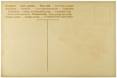 Blank Vintage Postcard. From early-to-mid-1900s with copyspace Royalty Free Stock Photo