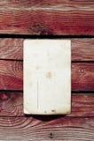 Blank Vintage Postcard On Wood Wall Stock Photography