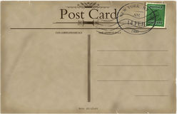 Blank vintage postcard Stock Images