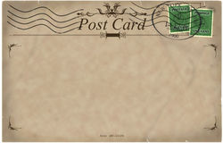 Blank vintage postcard Royalty Free Stock Images