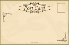 Blank vintage postcard Royalty Free Stock Photo