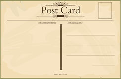 Blank vintage postcard Stock Photo