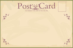 Blank vintage postcard Royalty Free Stock Images