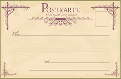 Blank vintage postcard Stock Photos