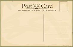 Blank vintage postcard Stock Images